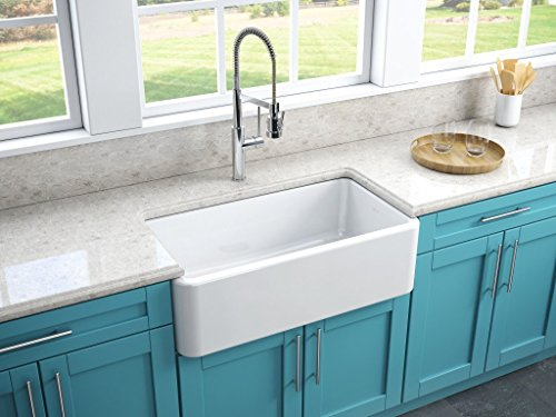 Reversible Fireclay Kitchen Sink - 5