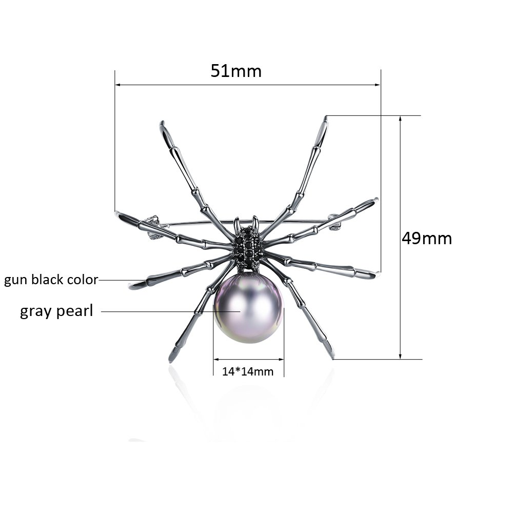 Mytys Spider Pin Brooch Drop Pendant for Women Gun Color Plated by Mytys (Image #6)