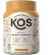 KOS Organic Plant Based Protein Powder – Raw Organic Vegan Protein Blend, 1.3 Pound, 15 Servings ...