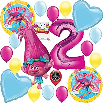 Amazon.com: Trolls película 2 nd fiesta de cumpleaños Globos ...