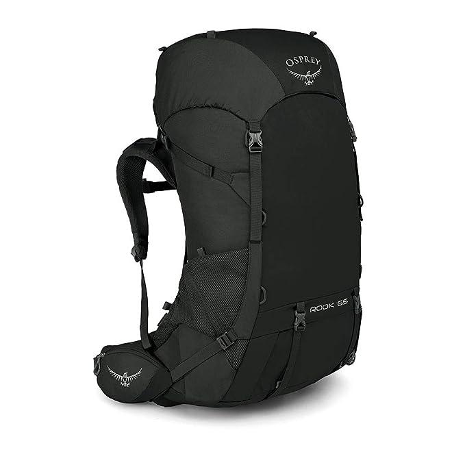 Osprey Rook 65 Mens Ventilated Backpacking Pack - Black (O ...