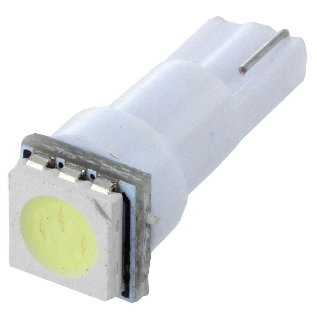TOOGOO(R) 10x Ampoule T5 Led Smd Blanc Pour Compteur Tableau De Bord Dc12v Lampe Tuning Lumiere Voiture Feux SODIAL(R)