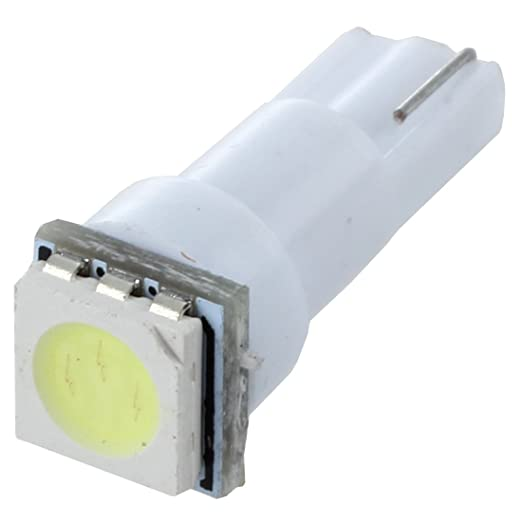 Sonline 10X coche T5 5050 bombillas de LED SMD 1 Dashboard Blanco lampara de luz 74 37 286 18 27 12v