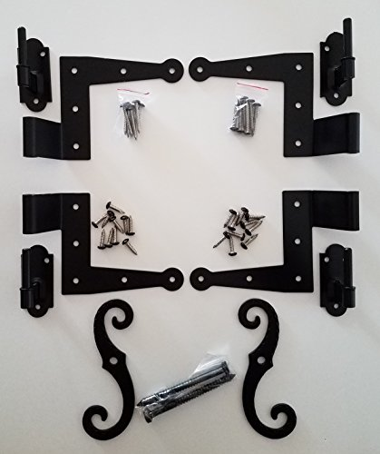 "Stainless Steel Colonial Shutter Hardware (1/2"" Offset) Complete Window Kit"