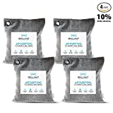 Appliances : Brilliant Evolution BRRC205 Natural Bamboo Charcoal Air Purifying Bag, Odor Eliminator and Air Freshener for Cars, Closets, Bathrooms, Pet Areas and RV, 4 Pack (4 Bamboo Charcoal Bags), 220G