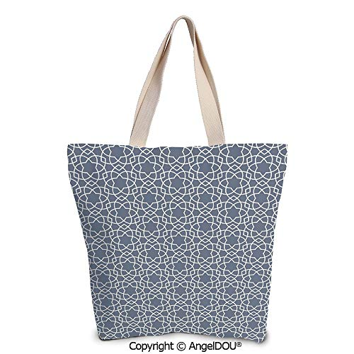 SCOXIXI Geometric Women's Canvas Shoulder Hand Bag Tote Bag Far East Asian Star