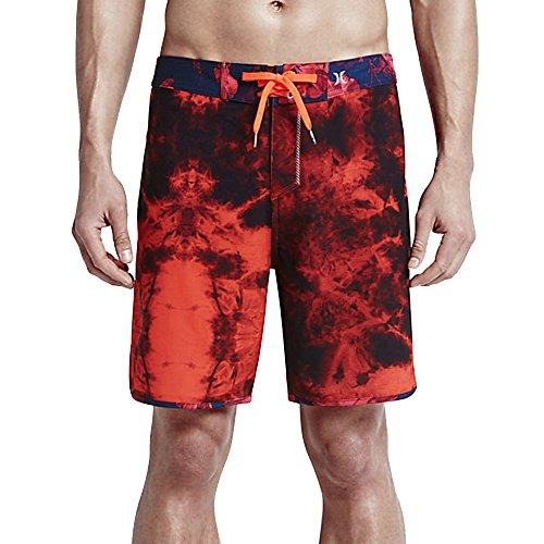 Icon Mens Boardshorts (Hurley MBS0005660 Mens Phantom Shibori Boardshorts, Bright Crimson - 30)