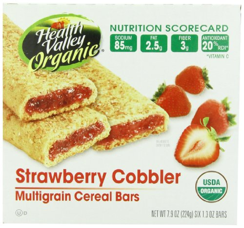 Health Valley Cobbler Cereal Bars, Strawberry, 6 Count, 7.9 Ounce Box