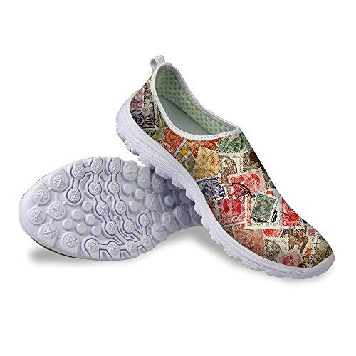 For U Design Stilig Dollar Mynt Print Unisexs Uformell Mesh Sneaker Joggesko  Multi 2 ...