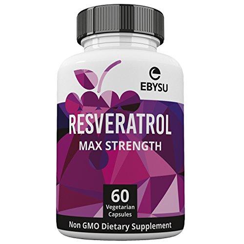 EBYSU Resveratrol - 1200mg Maximum Strength