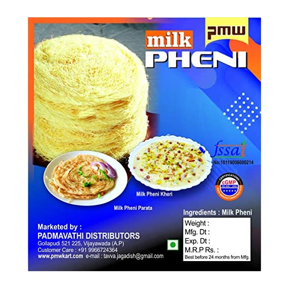 Pmw - Pheni - Ghee Milk Pheni - Peni - Pack of 3 - 200 Grams Appx.