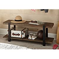 Modesto 48L Reclaimed Wood Entryway Bench