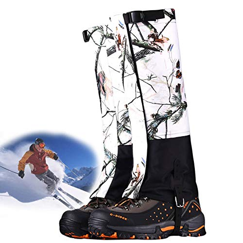 aiters Waterproof Boot Gaiters Snow Shoe Cover for Men and Women, Camo Gaiters Against Snake Bug Mud Dirt ()