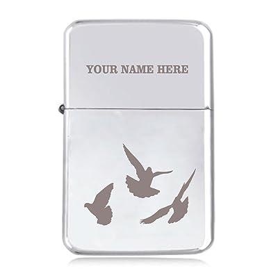 Motif colombes–personnalisé Star coupe-vent Briquet à essence