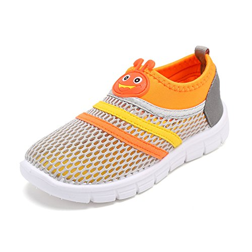 CIOR Kids Aqua Shoes Breathable Slip-on Sneakers For Running Pool Beach Toddler / Little Kid / Big Kid,X1107,Grey,26 0