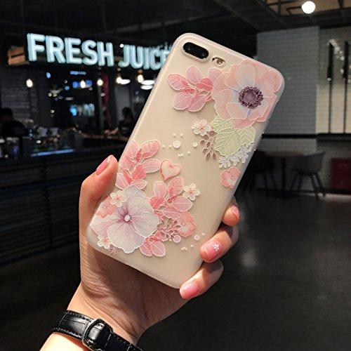 - iPhone 8 plus case, iPhone 7 plus 3D Printed Flower Case, ultra thin flexible case, Shock-proof Crystal Silicone TPU Case for IPhone 8 plus iPhone 7 plus (HD 3D Flower Print) (3D Pink Flowers)