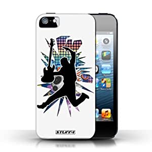 KOBALT? Protective Hard Back Phone Case / Cover for Iphone 5C   Leap/Jump White Design   Rock Star Pose Collection