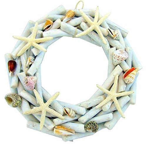 Driftwood-Wreath-with-Starfish-Seashells-Large-Nautical-Beach-Decor-14-12-Inch