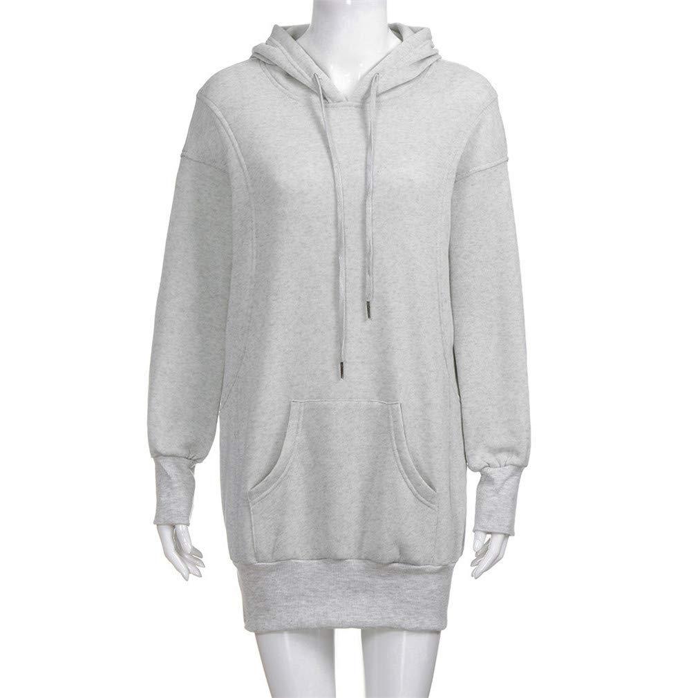 XUIGW Winter Women Hoodies Pullover Solid Girls Causal Long Sleeve Oversized Hoody Sweatshirt Sudaderas Mujer at Amazon Womens Clothing store: