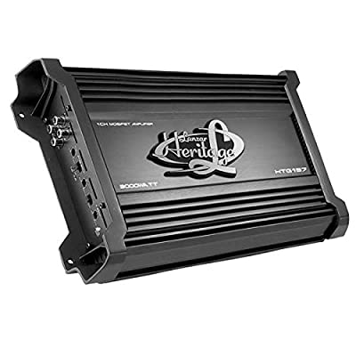 Lanzar Amplifier Car Audio, Amplifier Monoblock, 1 Channel, 3,000 Watt, 2 Ohm, MOSFET, RCA Input, Bass Boost, Mobile Audio, Amplifier for Car Speakers, Car Electronics, Crossover Network (HTG157): Car Electronics