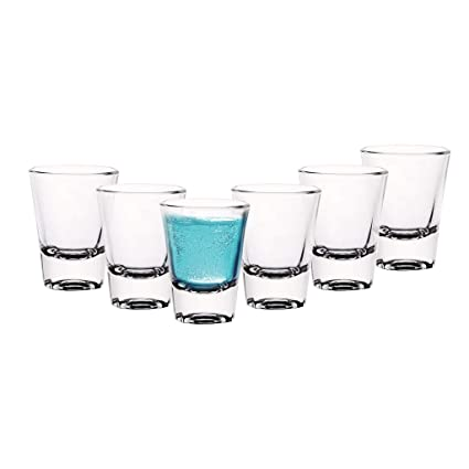 Cello Carino Shot Glass Set, 60ml, Set of 6, Clear