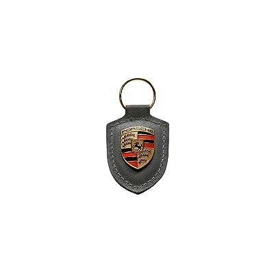 Porsche Grey Crest Key Tag Ring: Automotive