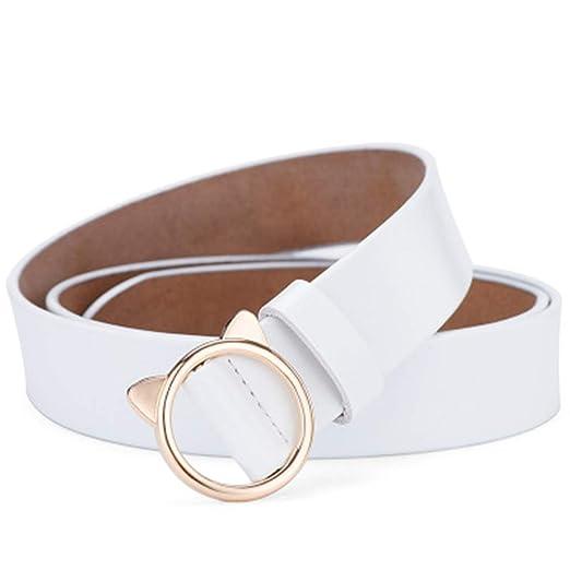 Cinturon de mujer Cinturón Femenino Simple Salvaje Real Cuero ...