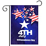 Kind Girl Celebration Parade Flags, July 4th Independence Day National Day USA US American Garden Flags,Anniversary Celebration, National Day Celebration,Double-Sided (American Flag, Stars)