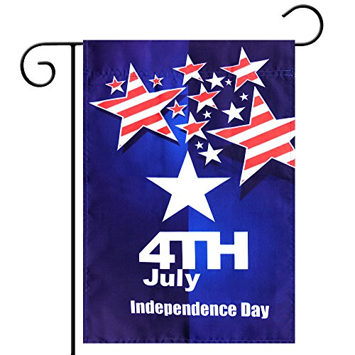 Cheap Kind Girl Celebration Parade Flags, July 4th Independence Day National Day USA US American Garden Flags,Anniversary Celebration, National Day Celebration,Double-Sided (American Flag, Stars)