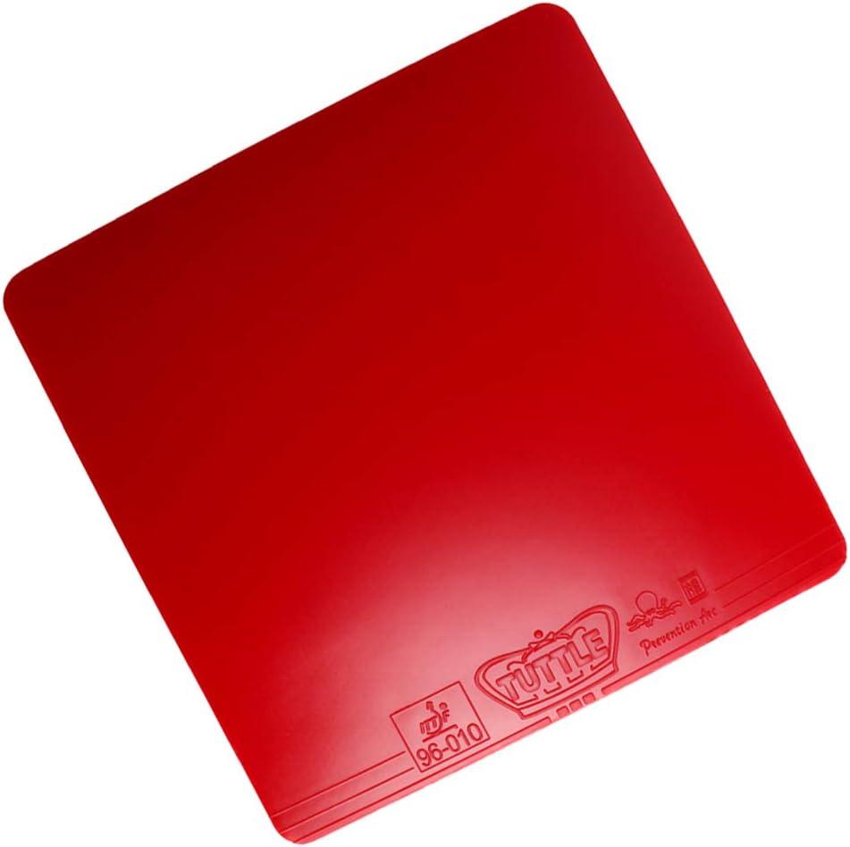 perfeclan Goma de Esponja de Paleta Profesional de Ping Pong Caucho de Tenis Negro Rojo Apto para Bucle de Ataque Rápido