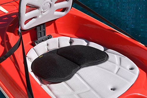 (Skwoosh Universal Seat Pad fits Kayak Canoe Row Dragonboat Outrigger Boats with Gel Comfort Cushion | Paddle Saddle Made in USA)