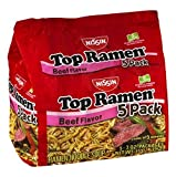Nissin Top Ramen Beef Flavor Noodle Soup - 5 Ct (Pack of 3)