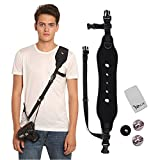 Camera Strap,YRMJK Camera Shoulder Neck Strap,Anti-Slip and Durable, Quick Release and Safety Tether(Black)