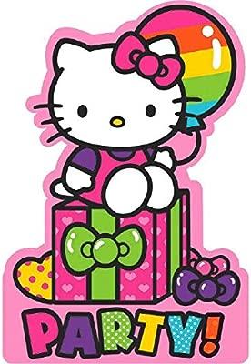 Adorable Hello Kitty Rainbow Suministro De Tarjetas De