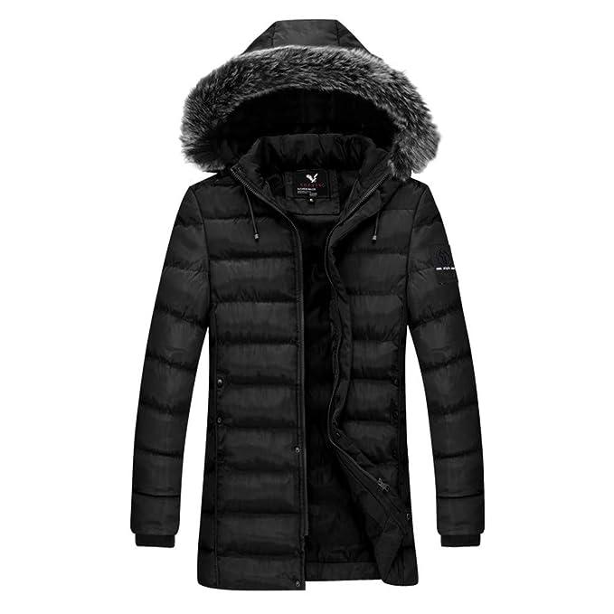 Amazon.com: Dacawin Mens Winter Coat Sale Fur Collar ...