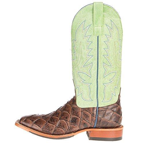 Anderson Bean Mens Choc Siletsofish Green Sensation Cowboy Boots 10.5 D Brown iFEm7