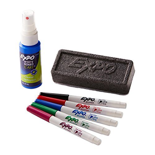 EXPO 1884310  Low-Odor Dry Erase Set, Ultra Fine Tip, Assorted Colors, 7-Piece
