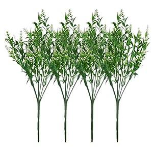 JWCTECH Artificial Plants Flowers Artificial Plants Greenery Artificial Flowers 19