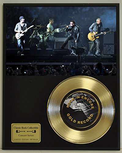 - U2 / Bono Limited Edition Gold 45 Record Display. Only 500 made. Limited quanities. FREE US SHIPPING