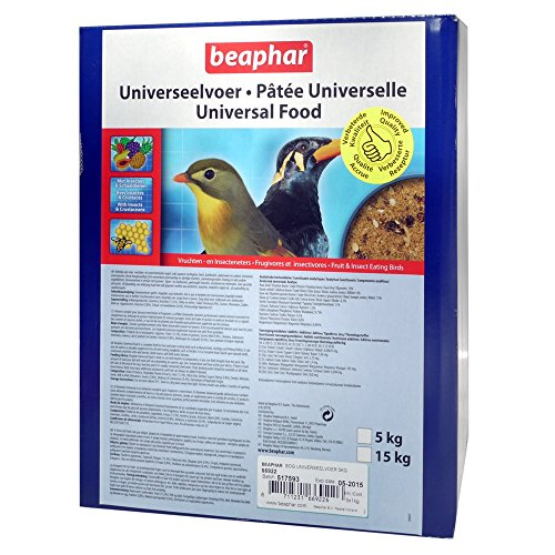 Beaphar Bogena Softbill Universal Bird Food (5x 1kg Sacks) (One Size) (Assorted) by Beaphar
