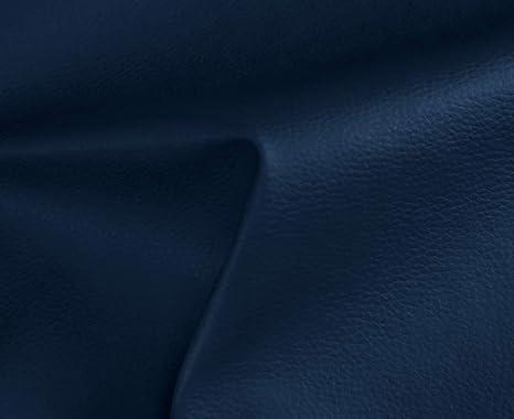 1 Metro de Polipiel para tapizar, Manualidades, Cojines o forrar Objetos. Venta de Polipiel por Metros. Diseño Solar Color Azul Marino Ancho 140cm