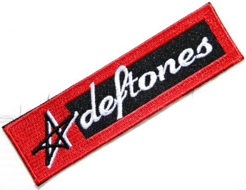 DEFTONES Heavy Metal Rock Punk Music Band Logo Patch Sew Iron on Embroidered Polo T-shirt Vest Cloth,Size 4.5Inch X (Rock Band Pins)