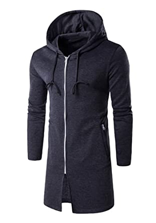 5ae69371c DOOXIUNDI Mens Hooded Outwear Plus Long Hoodies Overcoat at Amazon Men's  Clothing store:
