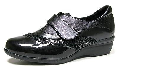 fbafde424b6 Zapatos abotinado cómodos mujer Doctor Cutillas - cierre velcro ...