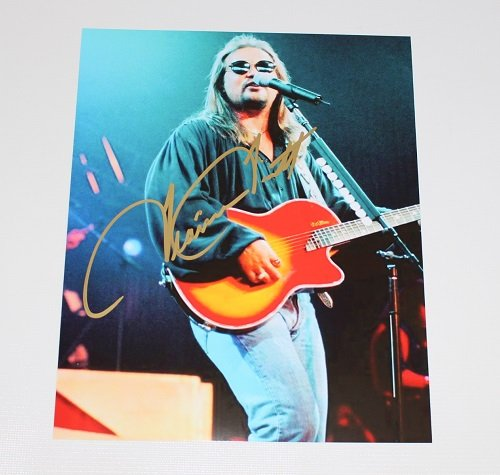 Travis Tritt Down the Road I Go Auhentic Signed Autographed 8x10 Glossy Photo - Rock Band Travis