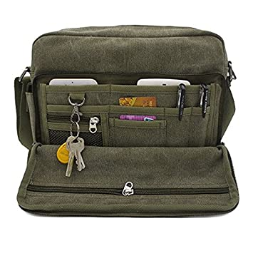 bd52424fbb5 Image Unavailable. Image not available for. Colour  Aeoss Multifunction Men  Canvas Bag Casual Travel Bolsa Masculina Men S Crossbody Bag Men Messenger  Bags