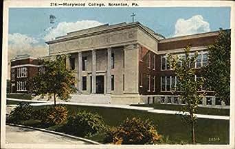 marywood college scranton pennsylvania original vintage postcard entertainment. Black Bedroom Furniture Sets. Home Design Ideas