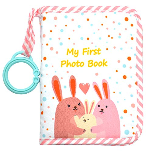 Babys My First Family Album,Soft Cloth Photo Book,Baby Cloth Album (Pink)