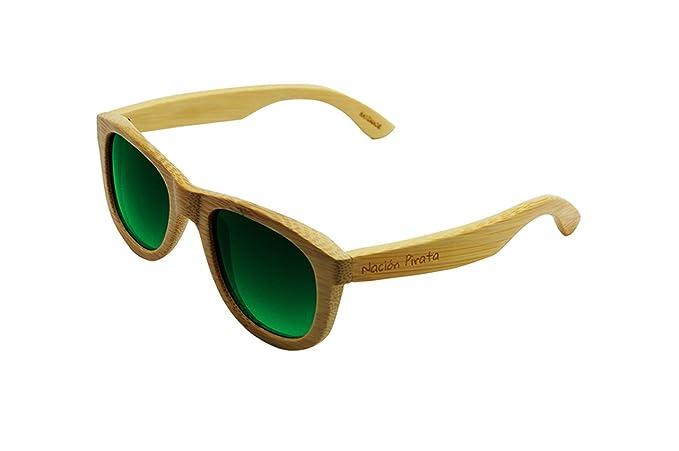 Nación Pirata - Gafas de Sol Madera de Bambú - Polarizadas ...