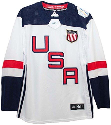 MEN'S USA HOCKEY ADIDAS WHITE 2016 WORLD CUP OF HOCKEY PREMIER BLANK JERSEY